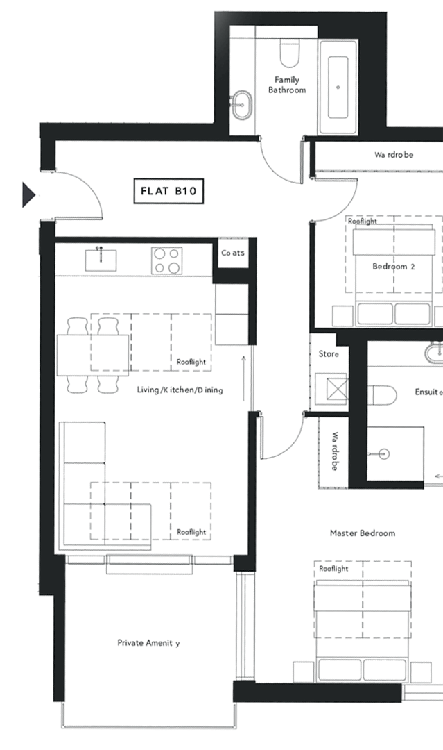 Floor plan of audiology house